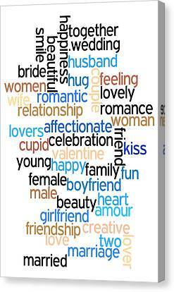 Words Of Love Canvas Print