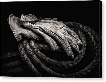 Work Gloves Still Life Canvas Print by Tom Mc Nemar