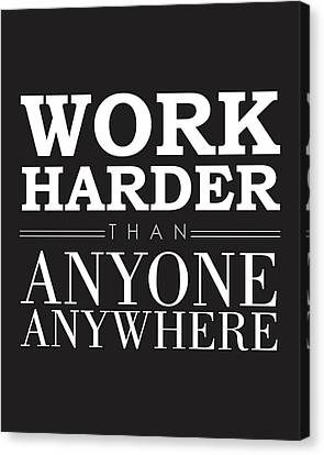 Work Hard - Motivational Quote Canvas Print