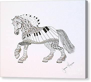 Work Horse Canvas Print by Joanna Thompson
