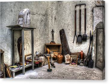 Canvas Print featuring the photograph Work Room by Lynn Geoffroy