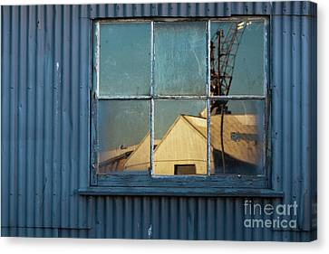 Canvas Print featuring the photograph Work View 1 by Werner Padarin