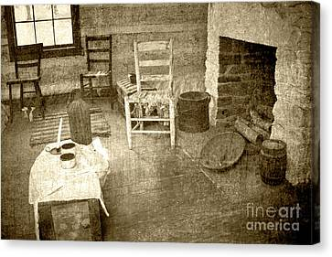 Canvas Print featuring the photograph Worker Quarters 2 by Pete Hellmann