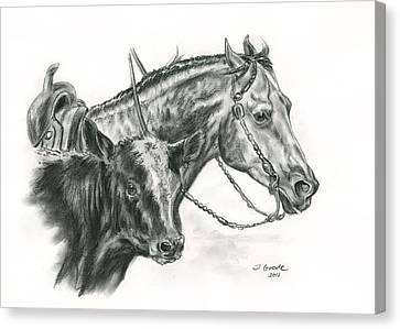 Running Horses Canvas Print - Working Cowhorse by Jana Goode