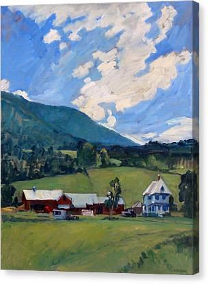 Working Farm Berkshires Canvas Print by Thor Wickstrom