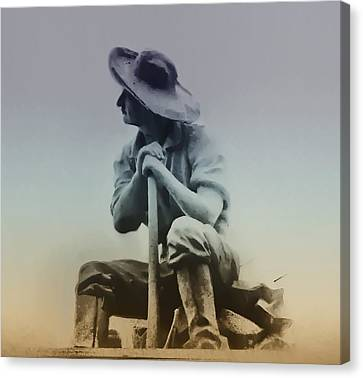 Working Man Canvas Print by Bill Cannon