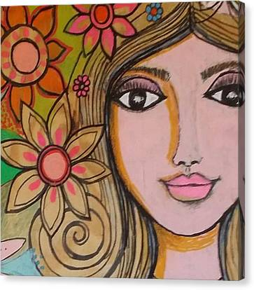Portraits Canvas Print - Working On A New #girliegirl On by Robin Mead
