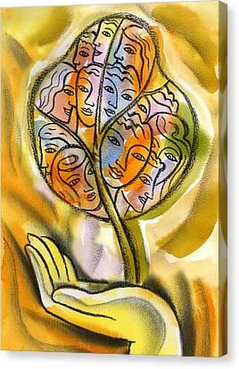Working Together Canvas Print by Leon Zernitsky