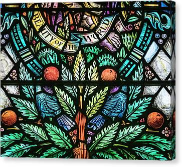Canvas Print - World Beauty Stained Glass by Jean Noren