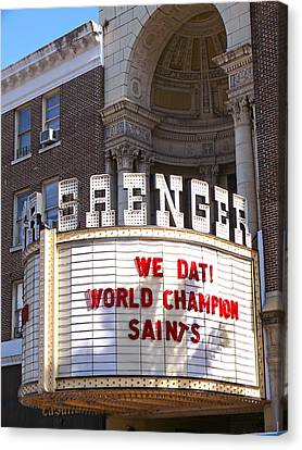 Saenger Canvas Print - World Champion Saints by Jeanne  Woods