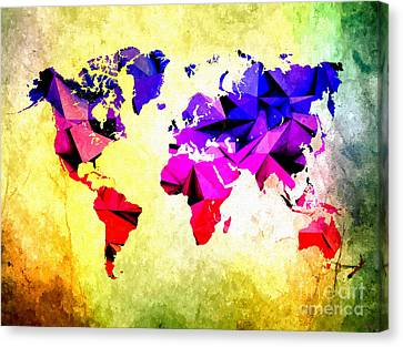 World Graphics Canvas Print by Daniel Janda
