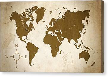 World Grunge Canvas Print by Ricky Barnard