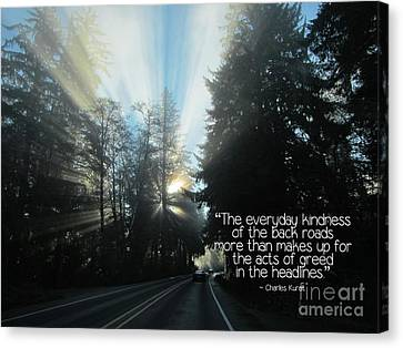 Canvas Print featuring the photograph World Kindness Day by Peggy Hughes