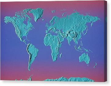 World Land Mass Map Canvas Print by Vladimir Pcholkin