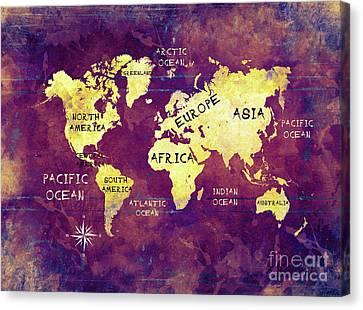 World Map 17 Canvas Print