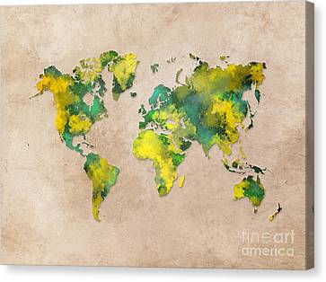 World Map 2040 Canvas Print by Justyna JBJart