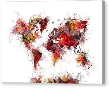 World Map 2060 Canvas Print by Justyna JBJart