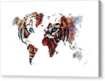 World Map 2066 Canvas Print by Justyna JBJart