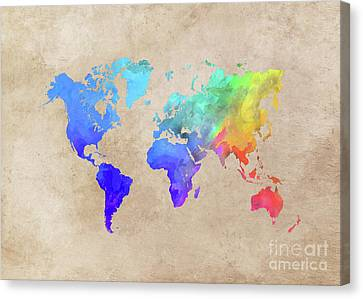 World Map 42 Canvas Print by Justyna JBJart