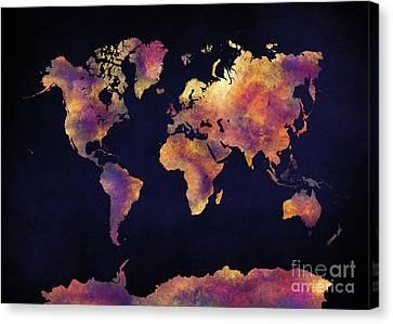 World Map Art 64 Canvas Print