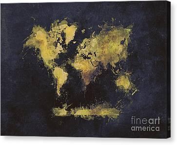 World Map Art 65 Canvas Print
