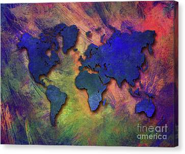 World Map Special 5 Canvas Print by Justyna JBJart