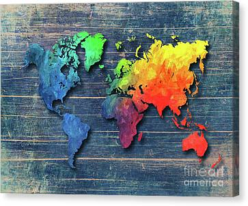 World Map Special 8 Canvas Print by Justyna JBJart