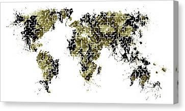 World Maps 7 Canvas Print