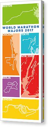 Personalized Canvas Print - World Marathon Majors 2017 Vertical by Big City Artwork