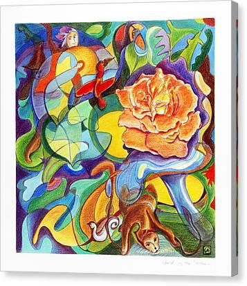 World Of The Rose Canvas Print by Monika Kretschmar