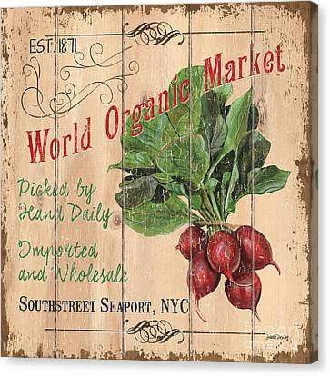 Local Food Canvas Print - World Organic Market by Debbie DeWitt