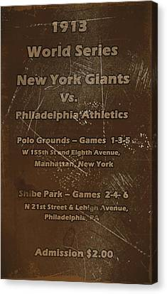 New York Baseball Parks Canvas Print - World Series 1913 by David Dehner