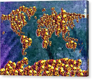 World Skulls Canvas Print by Daniel Janda