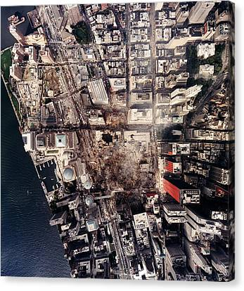 World Trade Center, Aerial Photograph Canvas Print by Everett