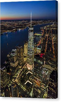 World Trade Center And 911 Reflecting Pools Canvas Print
