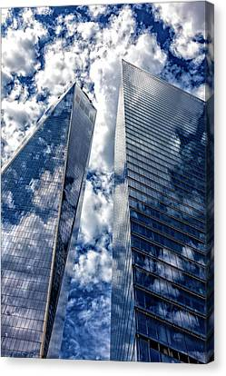 World Trade Center And Clouds Canvas Print by Robert Ullmann