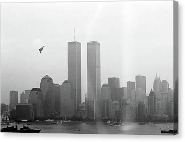 World Trade Center And Opsail 2000 July 4th Photo 18 B2 Stealth Bomber Canvas Print by Sean Gautreaux