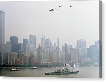 World Trade Center And Opsail 2000 July 4th Uscg Photo 17  Canvas Print by Sean Gautreaux