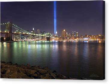 World Trade Center Memorial Canvas Print by Shane Psaltis