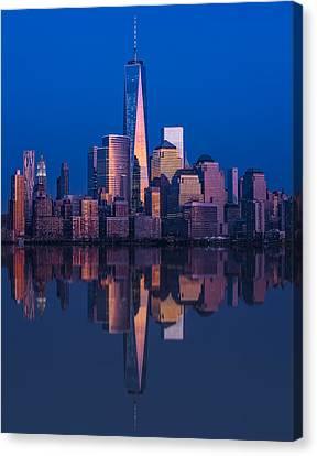 World Trade Center Reflections Canvas Print by Susan Candelario