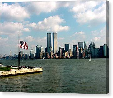 World Trade Center Remembered Canvas Print by Tim Mattox