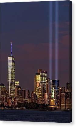World Trade Center Wtc Tribute In Light Memorial II Canvas Print