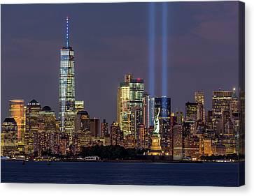 World Trade Center Wtc Tribute In Light Memorial Canvas Print