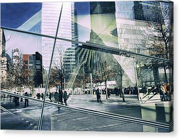 Canvas Print featuring the photograph World Trade  by Jessica Jenney
