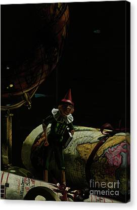 World Traveler Pinocchio Canvas Print by Kelly Borsheim
