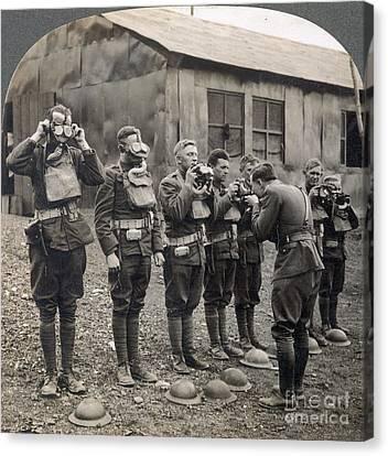 World War I: Gas Masks Canvas Print by Granger