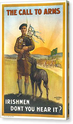 World War I, Irish Military Recruitment Canvas Print by Everett
