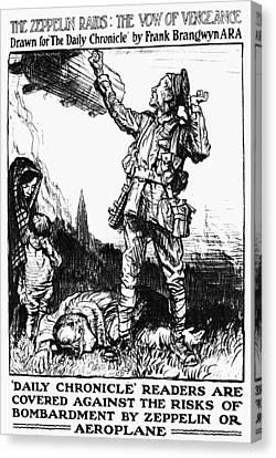 World War I: Poster Canvas Print