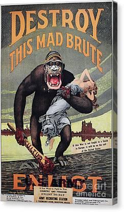 World War I: Recruitment Canvas Print by Granger