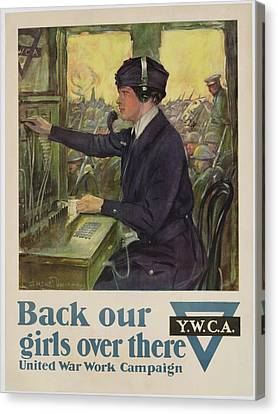 World War I Ywca Poster Canvas Print by Clarence F Underwood